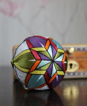 Temari ball 28 - Stained glass star by Bussardelka