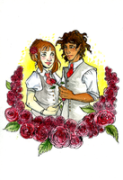 Valentine Roses by cap-o-rushes