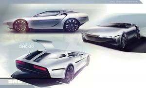 DELOREAN DMC RELAUNCH DESIGN by imoh1