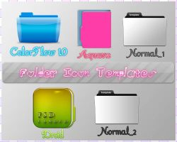 Folder Icon Templates by TheYamiiSa