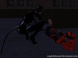 Batwoman's Feet Tickled by EnglishDamsel