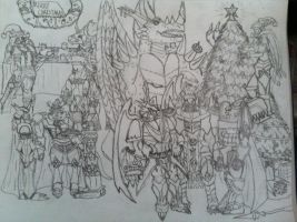 Royal Knights Christmas by Omnimon1996
