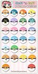 Cute Pokemon Buttons by Fluffntuff