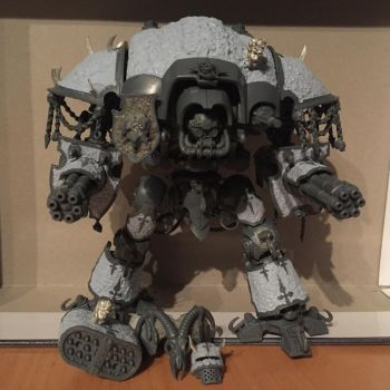 WIP 40k Nurgle Knight by Petrifications