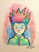 Gon Freecs Watercolor by 321comics