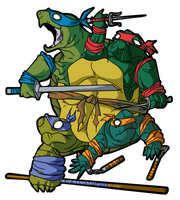 Teenage MUTANT Ninja Turtles by MichaelJLarson