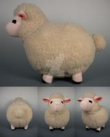 Harvest Moon Sheep Prototype Plush by WhittyKitty