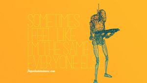 Droid Feelings: Battle Droid by paperbeatsscissors