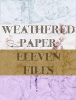 Weathered Paper Textures by InvaderJes11