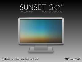 Sunset Sky Wallpaper by kyo5884