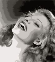 Rita Hayworth Paint By Number Art Kit by numberedart
