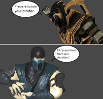 Injustice: Scorpion vs Sub-Zero by xXTrettaXx