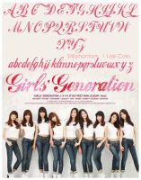 Girls Generation Gee font by StillPhantom