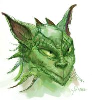 Creature Sketch in Green by Stungeon