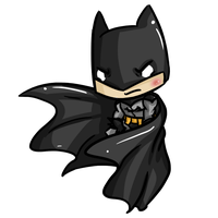 Super Chibis: Batman/ Dark Knight/ Bruce Wayne by Ijen-Ekusas