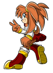 Sonic Channel Style by chillisart