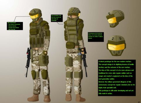 Soldier Concept 1 by JammeringJohn7