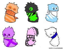 SCARFBLOB ADOPTABLES (CLOSED) by Adoptable-Kreations