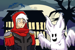Happy Halloween from Zed and Syndra by nerdrodder