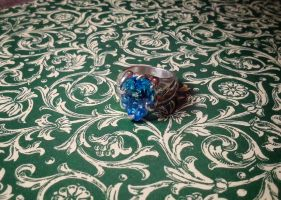 topaze vegetable silver ring by Debals