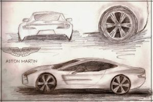 Aston Martin One-77 Sketches by Fironza
