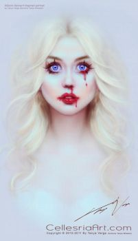 Allison Harvard inspired portrait by Cellesria