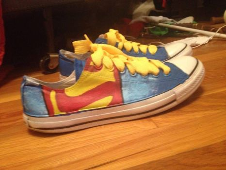 Custom Superman Shoes by KaoHatake