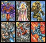 MARVEL MEGA PERSONAL SKETCH CARD SET Part C by AHochrein2010