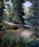 Forest waters  _ oil on canvas 50x60 by Sedeslav