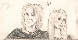 Lucius and Narcissa at School by TheWuzzy