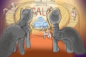 Sadyglare and Dragonfire at the Gala - Sketch by Svennemi
