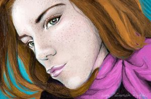 Redhair girl with duckface by missi-alicja