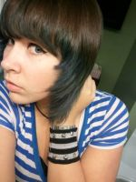 My blue hair XD by bvbaddict