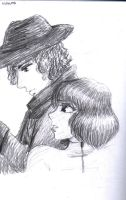 The Doctor and Sarah Jane by fegie