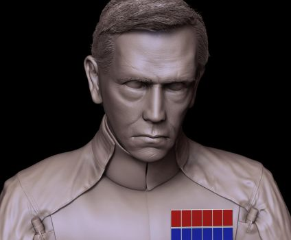 Orson Krennic - clay render by ThoJah