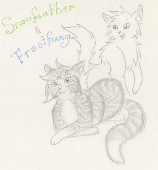 Snowfeather and Frostfang by CrystalXShine