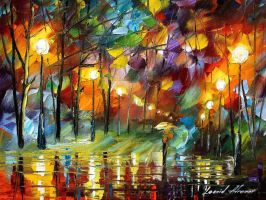 Rain drops by Leonid Afremov by Leonidafremov