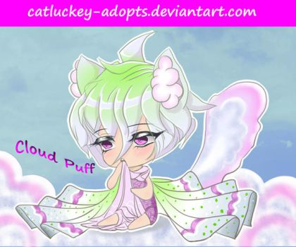 [CLOSED] Cloud Puff [Auction Adopt] by Catluckey-Adopts
