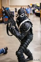 MY COMPLETED FLASH THOMPSON AGENT VENOM COSTUME by symbiote-x