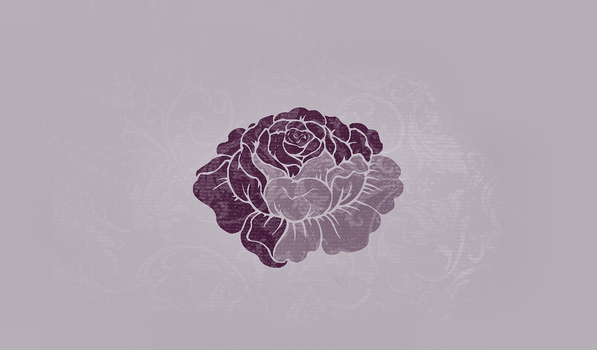Purple Rose Wallpaper by StrawberryHollow