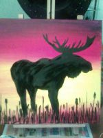 Moose at dusk by Guarded-Stallion