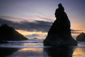Bandon Seastacks by rivaraftin1977