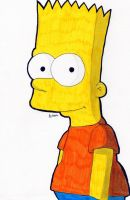 Bart - The Simpsons (Color) by Chemicalgirl7