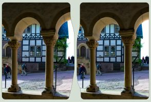 Wartburg II 3D ::: HDR Cross-View Stereoscopy by zour