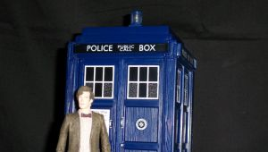 Eleventh Doctor and The Tardis by LinearRanger