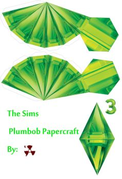 The Sims Plumbob Papercraft by killero94