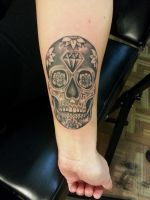 Diamond head sugar skull by Sykboi