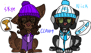 Cloud 9 dogs Skye and Nick by AxelPUP101