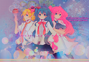Vocaloid Girls by Chrome-Asakura