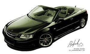 Saab 9-3 Conv. with MS Paint by bencizdim